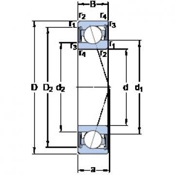 95 mm x 130 mm x 18 mm  SKF S71919 ACE/HCP4A angular contact ball bearings