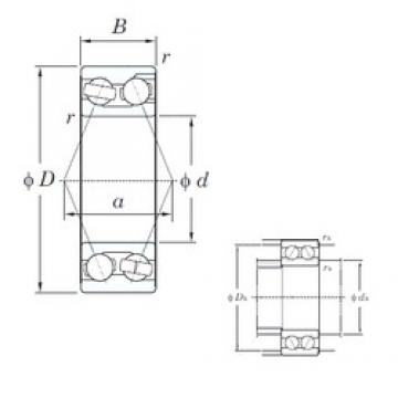 65 mm x 140 mm x 58.7 mm  KOYO 3313 angular contact ball bearings
