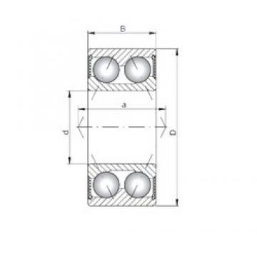 ISO 3904-2RS angular contact ball bearings
