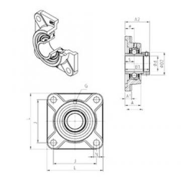 SNR EXF306 bearing units