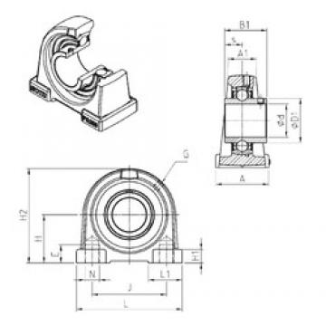 SNR UCPA207 bearing units