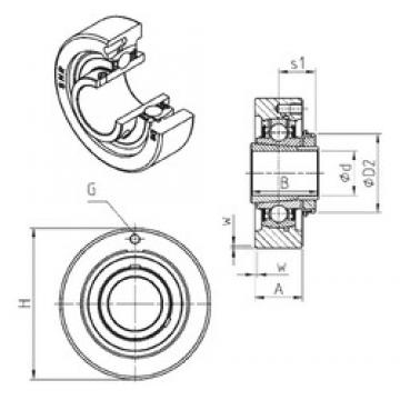 SNR UKC324H bearing units