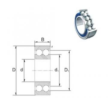 8 mm x 22 mm x 11 mm  ZEN 30/8-2Z angular contact ball bearings