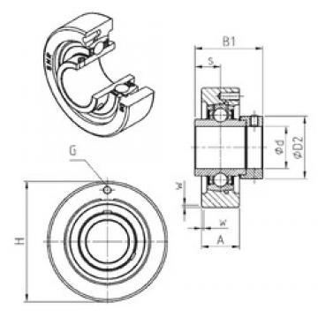 SNR EXC319 bearing units
