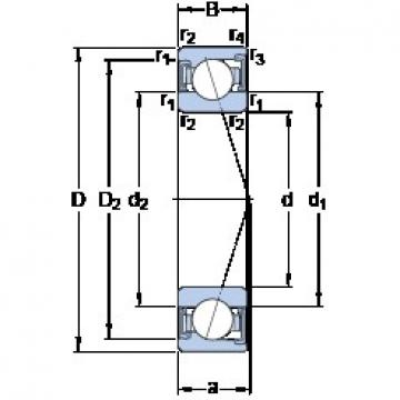 35 mm x 72 mm x 17 mm  SKF S7207 ACD/HCP4A angular contact ball bearings