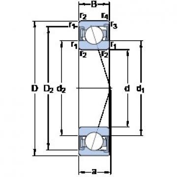 55 mm x 90 mm x 18 mm  SKF S7011 CD/HCP4A angular contact ball bearings