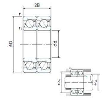 60 mm x 130 mm x 31 mm  NACHI 7312BDT angular contact ball bearings