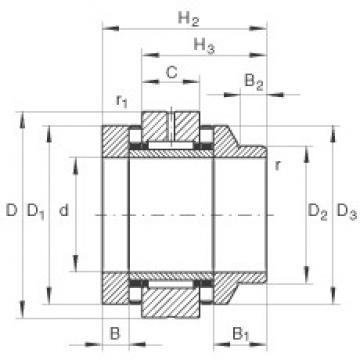 55 mm x 115 mm x 17,5 mm  INA ZARN55115-L-TV complex bearings