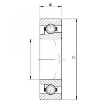 ISO 71801 C angular contact ball bearings