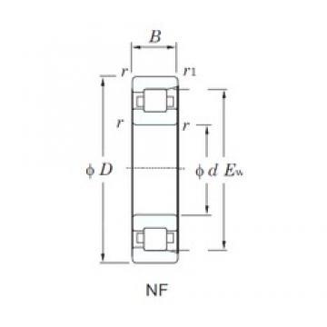 90 mm x 225 mm x 54 mm  KOYO NF418 cylindrical roller bearings