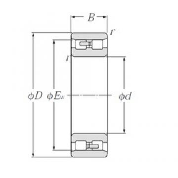 200 mm x 310 mm x 82 mm  NTN NN3040 cylindrical roller bearings