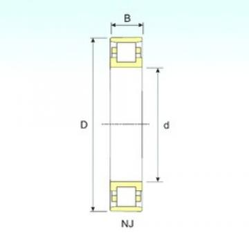 85 mm x 150 mm x 28 mm  ISB N 217 cylindrical roller bearings