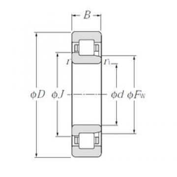 80 mm x 170 mm x 58 mm  NTN NJ2316E cylindrical roller bearings