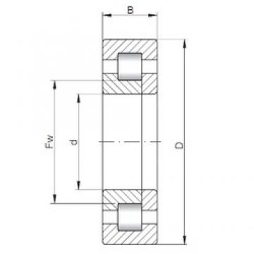 70 mm x 110 mm x 20 mm  ISO NUP1014 cylindrical roller bearings