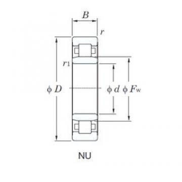 70 mm x 150 mm x 51 mm  KOYO NU2314 cylindrical roller bearings