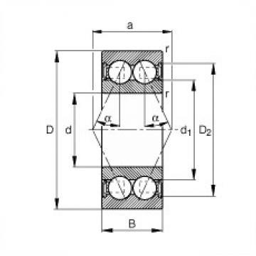 35 mm x 62 mm x 20 mm  FAG 3007-B-2RSR-TVH angular contact ball bearings