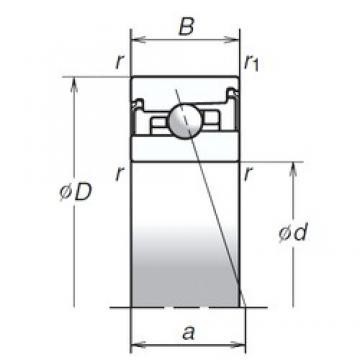 35 mm x 62 mm x 17 mm  NSK 35BNR20XV1V angular contact ball bearings