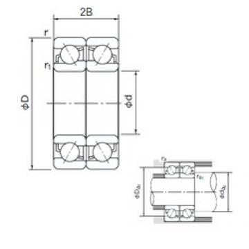55 mm x 100 mm x 21 mm  NACHI 7211CDF angular contact ball bearings