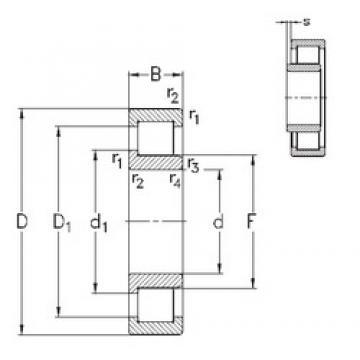 110 mm x 200 mm x 53 mm  NKE NJ2222-E-MPA cylindrical roller bearings