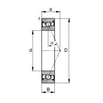 105 mm x 145 mm x 20 mm  FAG HSS71921-E-T-P4S angular contact ball bearings
