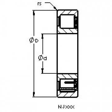 AST NJ316 EM cylindrical roller bearings