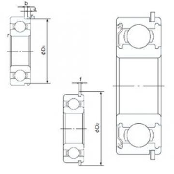 30 mm x 72 mm x 19 mm  NACHI 6306ZENR deep groove ball bearings
