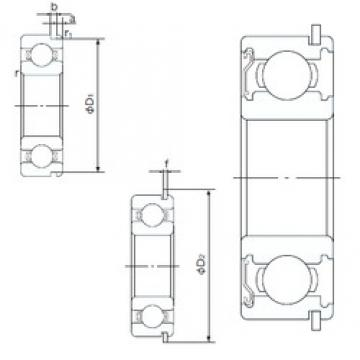 50 mm x 110 mm x 27 mm  NACHI 6310ZENR deep groove ball bearings