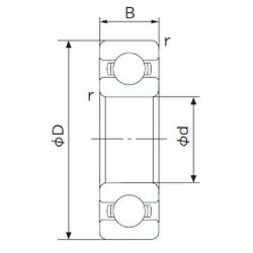 200 mm x 420 mm x 80 mm  NACHI 6340 deep groove ball bearings
