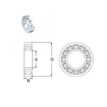 10 mm x 22 mm x 6 mm  ZEN S61900-2Z deep groove ball bearings