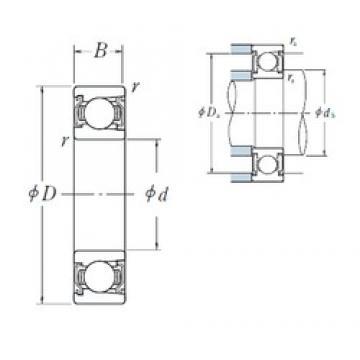 80 mm x 170 mm x 39 mm  NSK BL 316 ZZ deep groove ball bearings