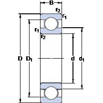 160 mm x 200 mm x 20 mm  SKF 61832 deep groove ball bearings