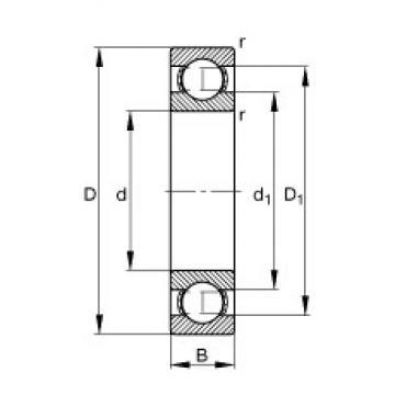 60 mm x 150 mm x 35 mm  FAG 6412 deep groove ball bearings