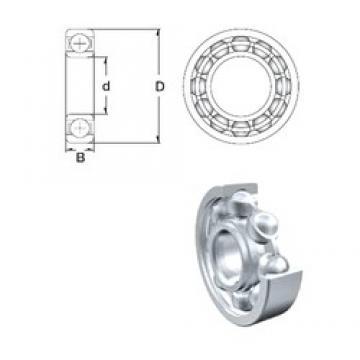 25 mm x 62 mm x 17 mm  ZEN S6305 deep groove ball bearings
