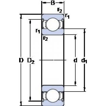 85 mm x 110 mm x 13 mm  SKF W 61817-2Z deep groove ball bearings