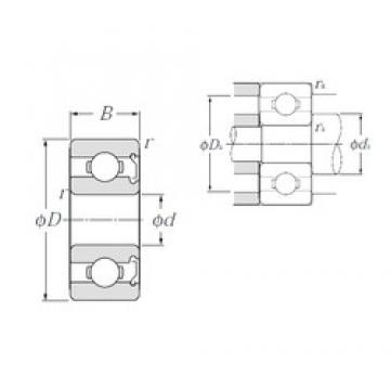 2 mm x 7 mm x 3,5 mm  NTN W602ZA deep groove ball bearings