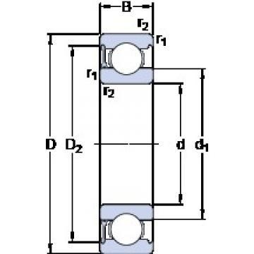 30 mm x 62 mm x 16 mm  SKF 6206-RZ deep groove ball bearings