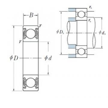 17 mm x 30 mm x 7 mm  NSK 6903ZZ deep groove ball bearings