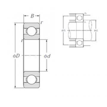 15 mm x 42 mm x 13 mm  NTN 6302 deep groove ball bearings