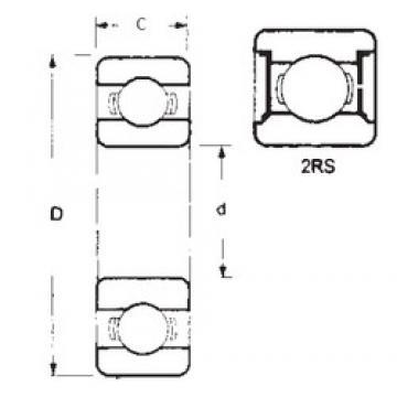 15 mm x 32 mm x 13 mm  FBJ 63002-2RS deep groove ball bearings