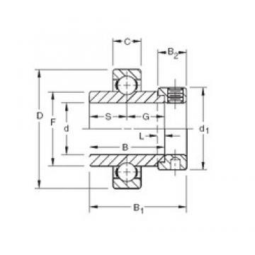 30,1625 mm x 62 mm x 36,51 mm  Timken SM1103K deep groove ball bearings