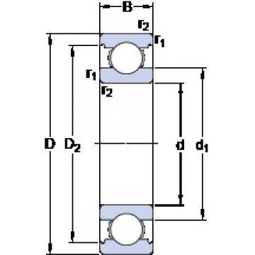 17 mm x 35 mm x 10 mm  SKF W 6003 deep groove ball bearings