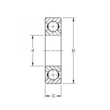 120,65 mm x 165,1 mm x 22,23 mm  Timken 47BIC216 deep groove ball bearings