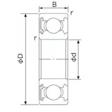 25 mm x 62 mm x 17 mm  NACHI 6305NKE deep groove ball bearings