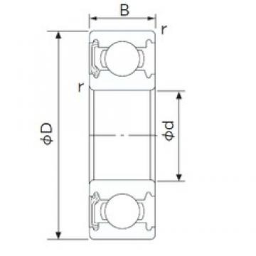 60 mm x 110 mm x 22 mm  NACHI 6212NKE deep groove ball bearings