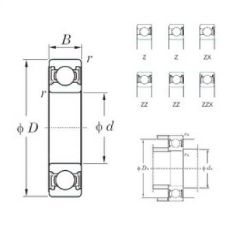 10 mm x 19 mm x 5 mm  KOYO 6800Z deep groove ball bearings