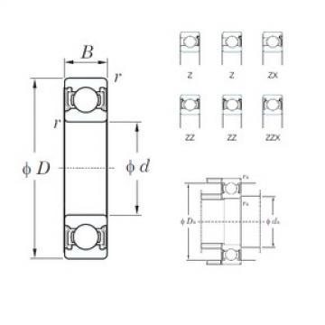 105 mm x 190 mm x 36 mm  KOYO 6221ZX deep groove ball bearings