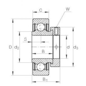3/4 inch x 42 mm x 16,7 mm  INA RAL012-NPP deep groove ball bearings