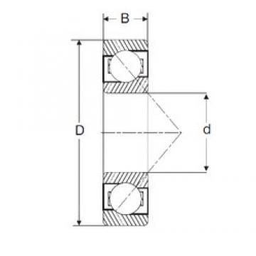 82,55 mm x 152,4 mm x 26,99 mm  SIGMA LJT 3.1/4 angular contact ball bearings