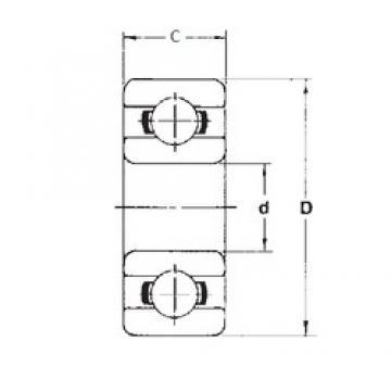 6,35 mm x 12,7 mm x 3,175 mm  FBJ R188 deep groove ball bearings