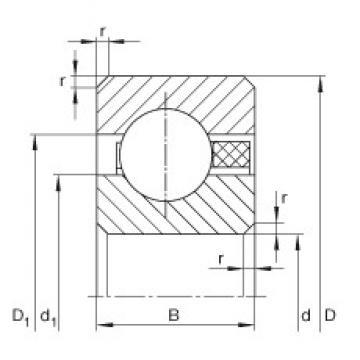 1 inch x 34,925 mm x 4,763 mm  INA CSCAA010-TV deep groove ball bearings